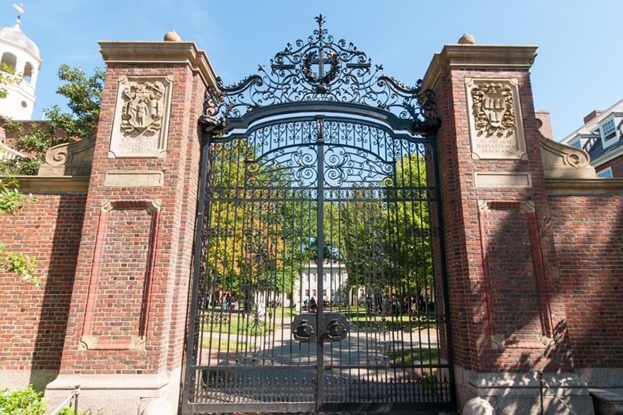 Boston, Massachusetts, USA - September 5, 2015: Picture of the Harvard Campus in Cambridge